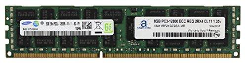 (Adamanta 8GB (1x8GB) Server Memory Upgrade Compatible for Dell Poweredge & Precision Servers DDR3L 1600Mhz PC3L-12800 ECC Registered 2Rx4 CL11 1.35v DRAM RAM)