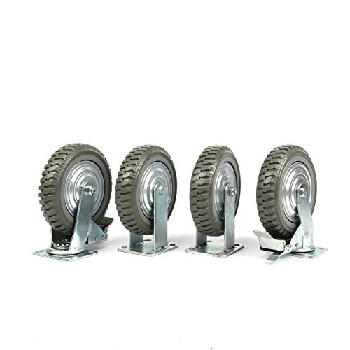 Nisorpa 8 inch Caster Wheels Heavy Duty 4 Pack Anti-Skid Rubber Swivel Caster Mute with 360 Degree Ball Bearing Castors…