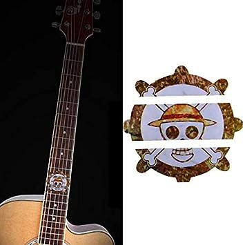 Calcomanías para diapasón, marcador de trastes de guitarra de oro ...