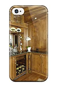 DebAA Fashion Protective Rustic Custom Bar Area With Wood Panel Walls Amp Granite Countertop Case Cover For Iphone 4/4s Kimberly Kurzendoerfer