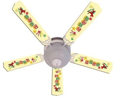 52 yellow ceiling fan - 3