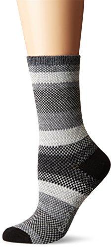 Sockwell/Goodhew Women's Mixology Crew Socks, Charcoal, Small/Medium