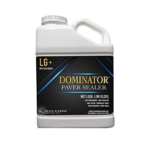1 Gallon DOMINATOR LG+ Low Gloss Paver Sealer (Wet Look) - Contractors' Choice, Solvent Free