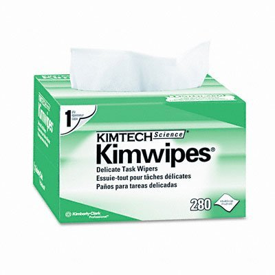 Kimberly-Clark Professional : KIMWIPES Ex-L Delicate Task Wipes, Cloth, 4-1/2 x 8-1/2, 280 per Box -:- Sold as 2 Packs of - 280 - / - Total of 560 Each (Lint Free Tissue)