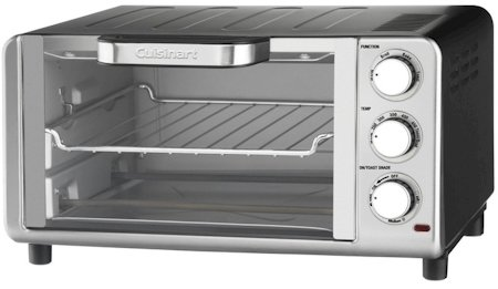Cuisinart Compact Toaster Oven Broiler with Bake, Broil, Toast and Keep Warm Features, Hands Free Auto-Slide Out Rack and Easy-Clean Nonstick Interior, Includes Baking Tray, Broiling Rack and Recipe Book (Cuisinart Compact Toaster Oven compare prices)