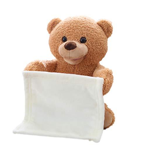 - B-CREATOR Peek-A-Boo Teddy Bear Baby Talking Electronic Pet 12 Inches Stuffed Animal