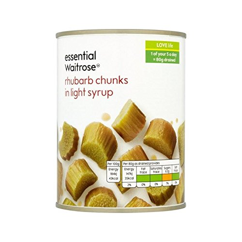 Rhubarb in Light Syrup essential Waitrose 560g - Pack of 4