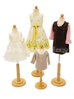 Childrens Body Dress Form Kids Mannequin Set (Group of 4) - 6 Month Old, 1-2 Year Old, 3-4 Year Old, and 6-8 Year Old
