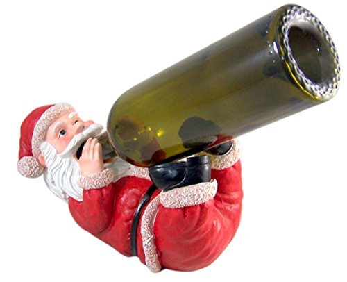 Santa Wine Bottle Holder - Santa's Spirits Holiday Wine Bottle Holder