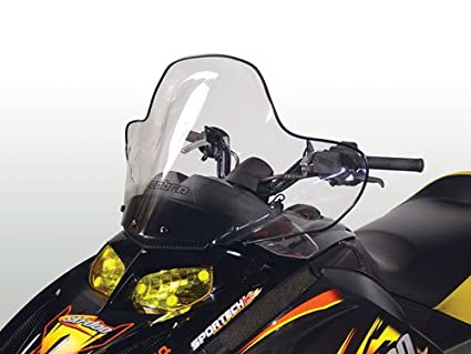 PowerMadd 13040 Cobra Windshield for Ski Doo Rev -  Tint with black graphics - Tall height