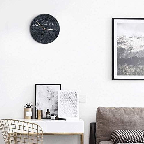 寝室用の時計、大理石の壁時計-パーソナライズされたクリエイティブなリビングルームの時計-モダンなミニマリストのアートサイレントの壁時計