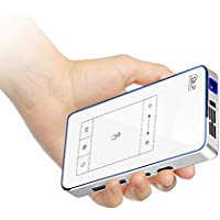 Pocket Projector, CACACOL T11 Portable Projector Support 1080P Full HD Wi-Fi Wireless Connectivity, Portable Mini Projector Max Throw 120 Screen, OSRAM LED Lamps Work for 30000 Hours