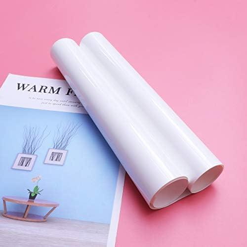 HEALLILY htv de vinilo de transferencia de calor blanco para camisetas papel de película de transferencia para carteles de muebles de ropa de bricolaje 30x100cm: Amazon.es: Hogar