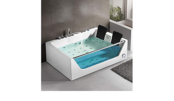 Light Decoraport 71 x 47 In Whirlpool Tub with Computer Panel Air Bubble DK-Q411