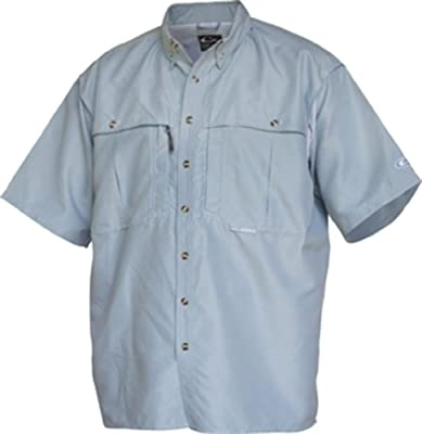 DW260PWD Drake Waterfowl Vented Wingshooter's Short Sleeve Shirt Powder Blue MD