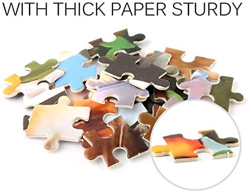 1000 Piece Jigsaw Puzzle Lovely Pets Cartoon Dog Puzzle Toy Fun Family Games Entertainment Decompression and Itelligence Jigsaw Puzzle 1000 Pieces Toys ,Thickened Paper