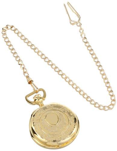 Charles-Hubert-Paris-3781-Gold-Plated-Hunter-Case-Quartz-Pocket-Watch