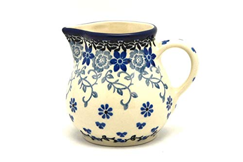 - Polish Pottery Creamer - 4 oz. - Silver Lace