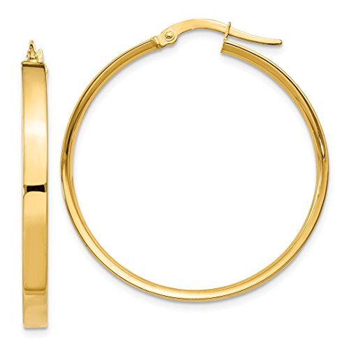 14k Yellow Gold Hoop Earrings Ear Hoops Set Round Classic Fine Jewelry For Women Gift Set from ICE CARATS