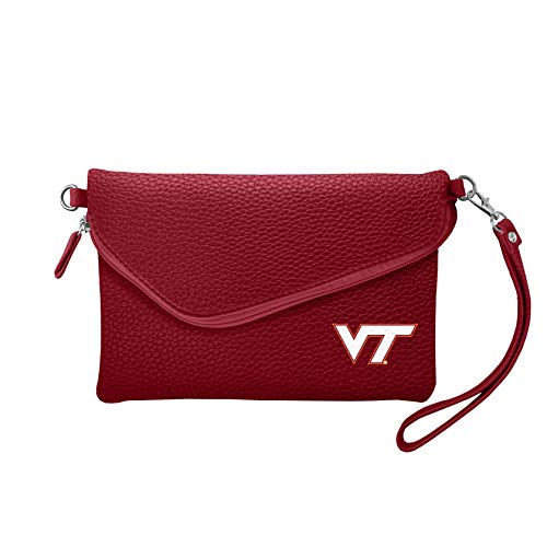 (NCAA Virginia Tech Hokies Pebble Fold Over Crossbody Purse)