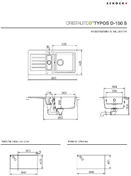 Schock Typos D-150S colch/ón color Croma TYPD150SAGCR