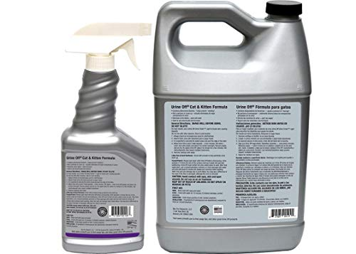 Image of Urine Off Cat & Kitten Odor and Stain Remover Gallon & Spray Combo