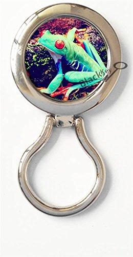 BlackKey Frog Magnetic Metal Eyeglass Badge Holder, Eye Glass Holding Brooch - Sunglasses 2046