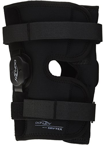 DonJoy Deluxe Hinged Knee Brace, Drytex Wrap Around, Open Popliteal, - Support Around Neoprene Knee Wrap