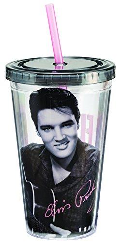 Elvis Presley 18 Oz. Acrylic Travel Cup - Elvis Memorabilia Presley