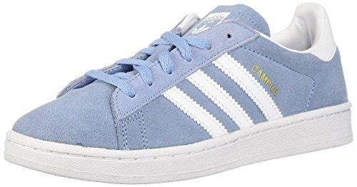 adidas Originals Unisex-Kids Campus C, Ash Blue/White/White, 2 Medium US Little Kid (Campus 2 Shoe Leather)