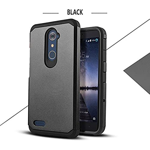 Galaxy S8 Case, Starshop Hybrid Heavy Duty Rugged Impact Advanced Armor Soft Silicone Cover (Black) Sales