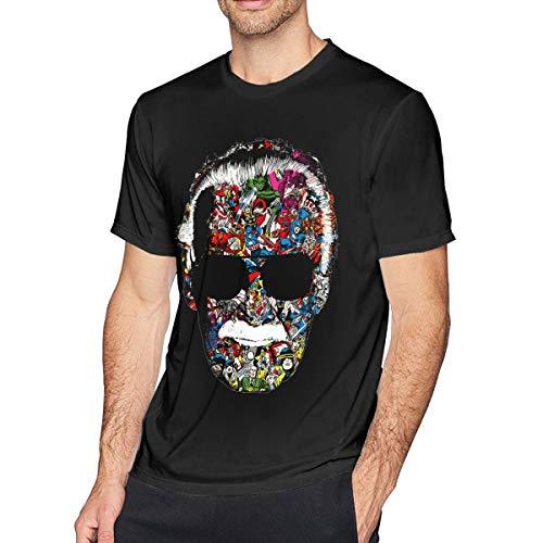 Stan Lee Mens T Shirt Short Sleeve Crew Neck Tees Adult Fashion Shirt Black