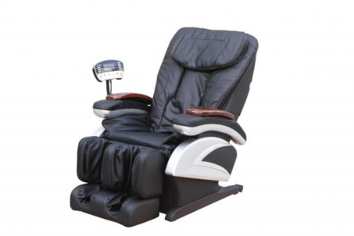 Electric Full Body Shiatsu Massage Chair Recliner Stretched...