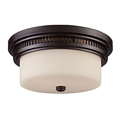 ELK Lighting 66631-2 Close-to-Ceiling-Light-fixtures, 5 x 13 x 13, Bronze