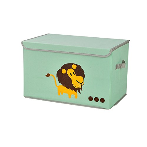 MOCOFO Storage Bins Extra Large Foldable Cube Box Eco Friendly Fabric Storage Containers Animals Cubes Organizer With Lid for Kids Toys Cloth Fit Ikea Shelves Closet Drawer Removable Dividers 19 inch by MOCOFO