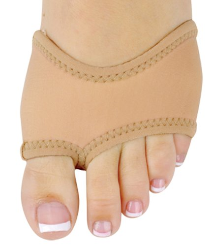 AllForDance Half Sole Dance Shoes in Neoprene 15 color choices (L Tan no Stones)