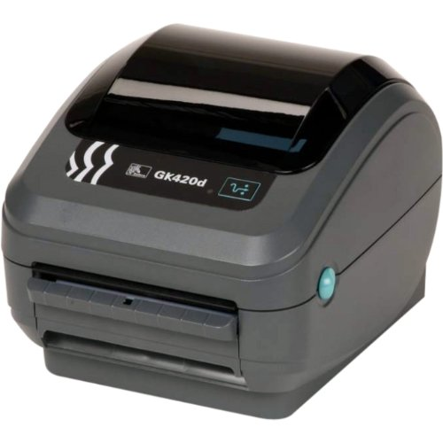 Zebra - GK420d Direct Thermal Desktop Printer for Labels, Receipts, Barcodes, Tags, and Wrist Bands - Print Width of 4 in - USB, Serial, and Parallel Port Connectivity ()