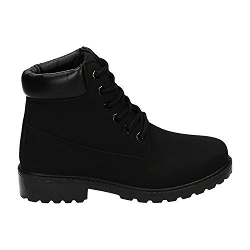 Trendige Damen Stiefeletten Worker Schnürboots Outdoor Wander Stiefel Schuhe Bequem 16 (39, Grau)