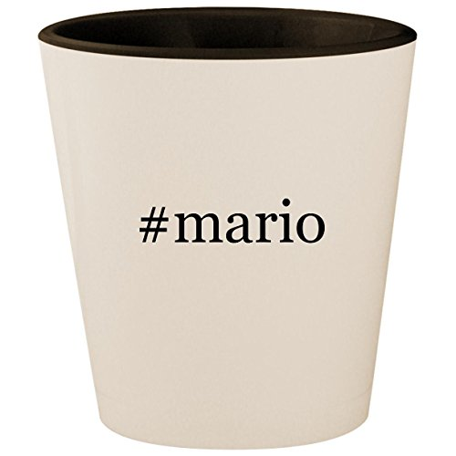 (#mario - Hashtag White Outer & Black Inner Ceramic 1.5oz Shot Glass)