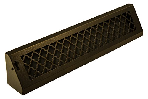 SteelCrest BTU24BBSORB Bronze Series Designer Baseboard Vent with Air-Volume Damper, Oil Rubbed