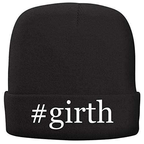 BH Cool Designs #Girth - Adult Hashtag Comfortable Fleece Lined Beanie, Black ()