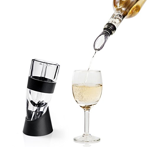 Chilling Decanter (Secura Premium Wine Aerator Decanter with Wine Pouring Spout Chilling Stick)