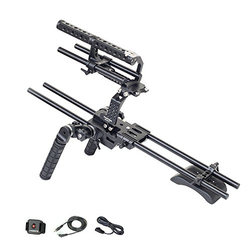 CAMTREE Hunt FS700 Camera Cage Rig with Rosette Handles for Sony Nex FS700 | Shoulder Stabilizer with Free Storage Cage & Accessories (CH-FS700-RIG1) by Camtree
