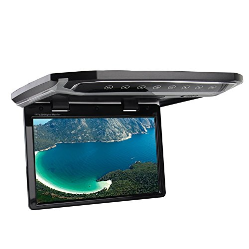 12.1-inch LCD-TFT Screen Car Monitor Roof-mount Overhead Automotive HD LED Interior Lamps 2 way Video SD input MP4/MPG/RM/RMVB/AVI/MPEG/VOB/DIVX
