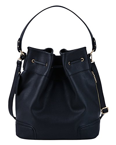 COOFIT Drawstring Handbag Bucket Bag Leather Crossbody Bag Original Design Shoulder  Bag Handbag for women d2aa152a70
