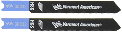 Vermont American 30032 2-3/4-Inch 36TPI High Speed Steel Metal Cutting U Shank Jigsaw Blade, 2-Pack