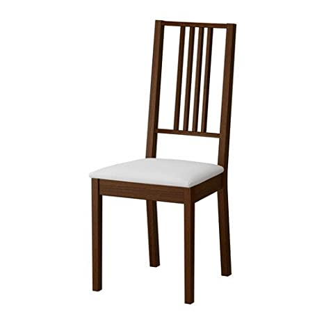 Silla Borje de IKEA, marrón y blanco gobo: Amazon.es: Hogar