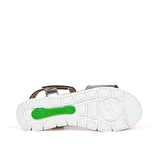 Sneaker Zapatilla W Metalizado Syndra Slowwalk Mujer Plata gHqwrxgZ