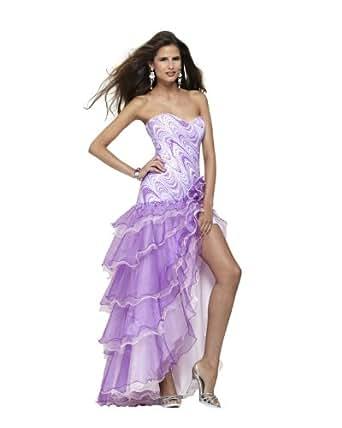 Amazon.com: Clarisse Strapless Drop Waist Ruffle Prom