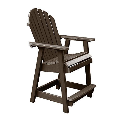 Highwood AD-CHCA2-ACE Hamilton Counter Height Deck Chair, Weathered Acorn